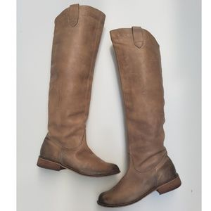 BP leather over the knee boots camel tan size 9